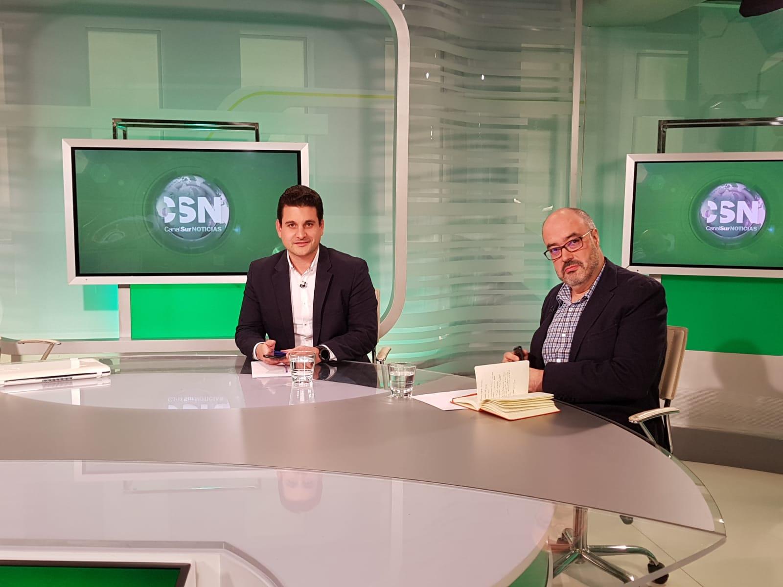 Ramón Alberca, Analista de Datos y Agustín Madariaga, Científico de Datos, esta tarde an Andalucía al Día, de Canal Sur TV.
